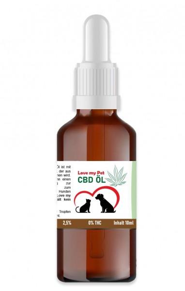 LoveMyPet 2,5% Öl ohne THC!
