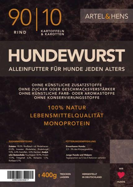 Náttúra - Hundewurst Rind 90 / 10